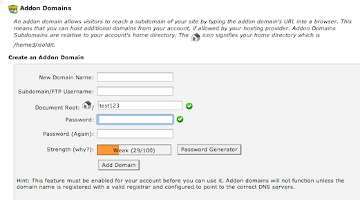 add on domain